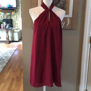 Soprano Maroon Halter Dress